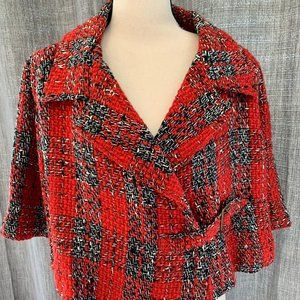 Kate Landry Tweed Cape